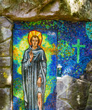 Saint Peregrine shrine. At the Grotto in Portland Oregon Stock Photography