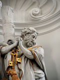 Saint Peter. Details of Saint Peter sculpture royalty free stock photos