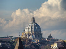 Saint Peter Basilica Dome Royalty Free Stock Photo