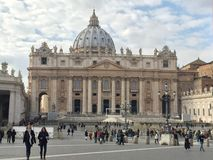 Saint Peter basilica in Vatican Royalty Free Stock Photo