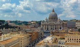 Saint Peter Basilica, Vaticano - Roma, Itália foto de stock