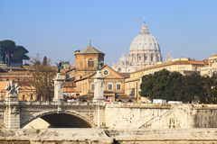 Saint peter basilica view Royalty Free Stock Image