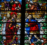 Saint Peter is called by Jesus - Stained Glass in Rouen Cathedra Royalty Free Stock Image