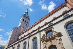 Saint Peter Cathedral in Munich Royalty Free Stock Image