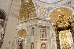 Saint Peter Cathedral in Vatican Royalty Free Stock Images