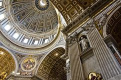 Saint Peter Cathedral in Vatican Royalty Free Stock Image