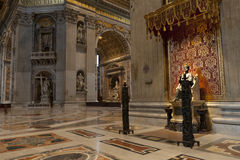 Saint Peter Cathedral in Vatican City Stock Image