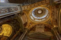 Saint Peter cathedral in Vatican Royalty Free Stock Photography