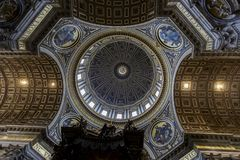 Saint Peter cathedral in Vatican Stock Images