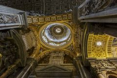 Saint Peter Cathedral in Vatican Stock Photos
