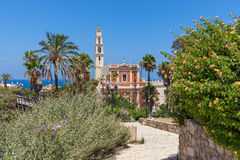 Saint Peter church in Jaffa, Israel. Royalty Free Stock Images