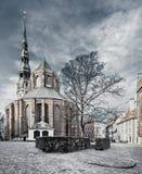 Saint Peter church in old Riga city, Latvia Royalty Free Stock Photos