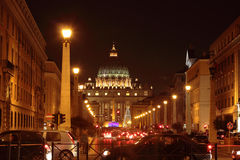 Saint Peter Dome at Night Stock Photo
