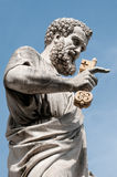 Saint Peter with Eden key Royalty Free Stock Photography