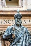Saint Peter Keys Statue Seagull Vatican Rome Italy. Saint Peter Keys Statue Seagull Basilica Vatican Rome Italy. Statue commissioned in 1847 by Giuseppe De Stock Images