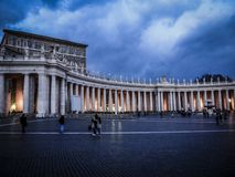 Saint Peter Square in the Evening stock photography