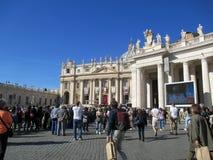 Saint Peter Mass Pope Francis Roma Italie de place de Vatican photos libres de droits
