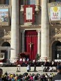 Saint Peter Mass Pope Francis Roma Italie de place de Vatican images stock