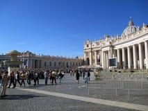 Saint Peter Mass Pope Francis Roma Italie de place de Vatican photographie stock