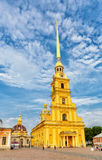 Saint Peter and Paul cathedral in Saint Petersburg Stock Photo