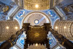 Saint Peter in Rome: Cupola Decoration royalty free stock images