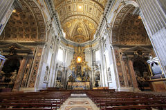 Saint Peter's Basilica. The spectacular interior of Saint Peter's Basilica at the Vatican, Rome, Italy Royalty Free Stock Photos