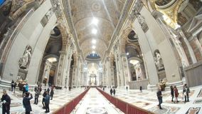Saint Peter`s Basilica, building, basilica, place of worship, tourist attraction. Saint Peter`s Basilica is building, tourist attraction and arch. That marvel Stock Photography