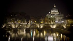 Saint Peter's Basilica church in Vatican City, papal enclave in Rome, timelapse. Stock footage stock video