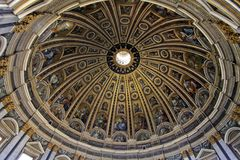 Saint Peter's Basilica Dome Stock Images