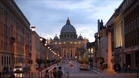 Saint Peter's Basilica at dusk Royalty Free Stock Photos