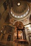 Saint Peter's Basilica Indoor Stock Images