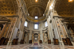 Saint Peter's basilica interior. In Vatican. Rome, Italy royalty free stock photography