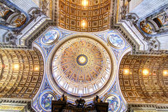 Saint Peter's Basilica interior Stock Photo