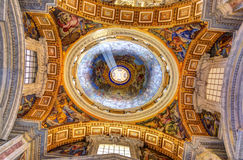 Saint Peter's Basilica interior Royalty Free Stock Image