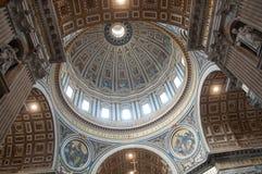 Saint Peter's Basilica - interior view Royalty Free Stock Photo