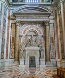 Monument to Pius VII by Bertel Torvaldsen in Saint Peters Basilica in Rome, Italy. royalty free stock image