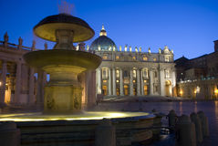 Saint Peter's basilica by night Stock Photo