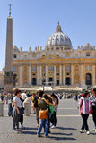 SAINT PETER`S BASILICA,ROME,ITALY-APRIL 13 stock photos