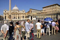 SAINT PETER'S BASILICA,ROME-JUNE 18 Stock Photos