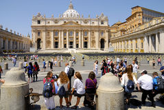 SAINT PETER'S BASILICA,ROME-JUNE 18 Stock Photography