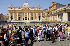SAINT PETER'S BASILICA,ROME-JUNE 18 Royalty Free Stock Images