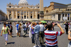 SAINT PETER'S BASILICA,ROME-JUNE 18 Royalty Free Stock Photo