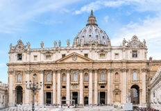 Saint Peter's Basilica at St. Peter's Square in Vatican, Rome Stock Images