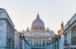 Saint Peter's Basilica in Vatican City, Italy. The Papal Basilica of Saint Peter in the Vatican (Basilica Papale di San Pietro in Vaticano), commonly known as stock photos