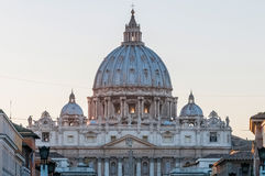 Saint Peter`s Basilica in Vatican City, Italy Stock Photo