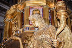 Saint Peter's Basilica in Vatican - interior of famous church Royalty Free Stock Photography