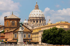 Saint Peter's Basilica in Vatican. Italy royalty free stock photography