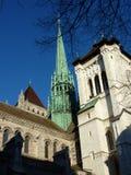Saint-Peter's cathedral in Geneva, Switzerland Stock Photos