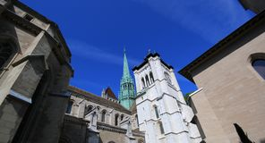 Saint-Peter's cathedral in Geneva, Switzerland Royalty Free Stock Photography