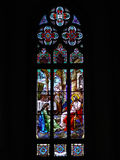 Saint Peter´s Cathedral stainded glass window. Located in Petropolis - Rio de Janeiro - Brazil Royalty Free Stock Photo